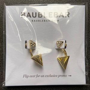 NWT Baublebar Gold Tone Arrow Earrings